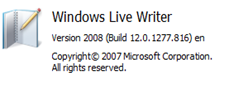 Windows Live Writer Info